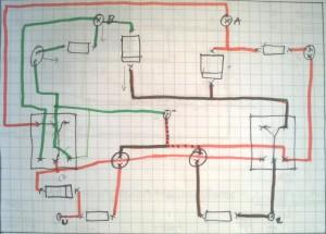 Schaltplanskizze eines Halbaddierers