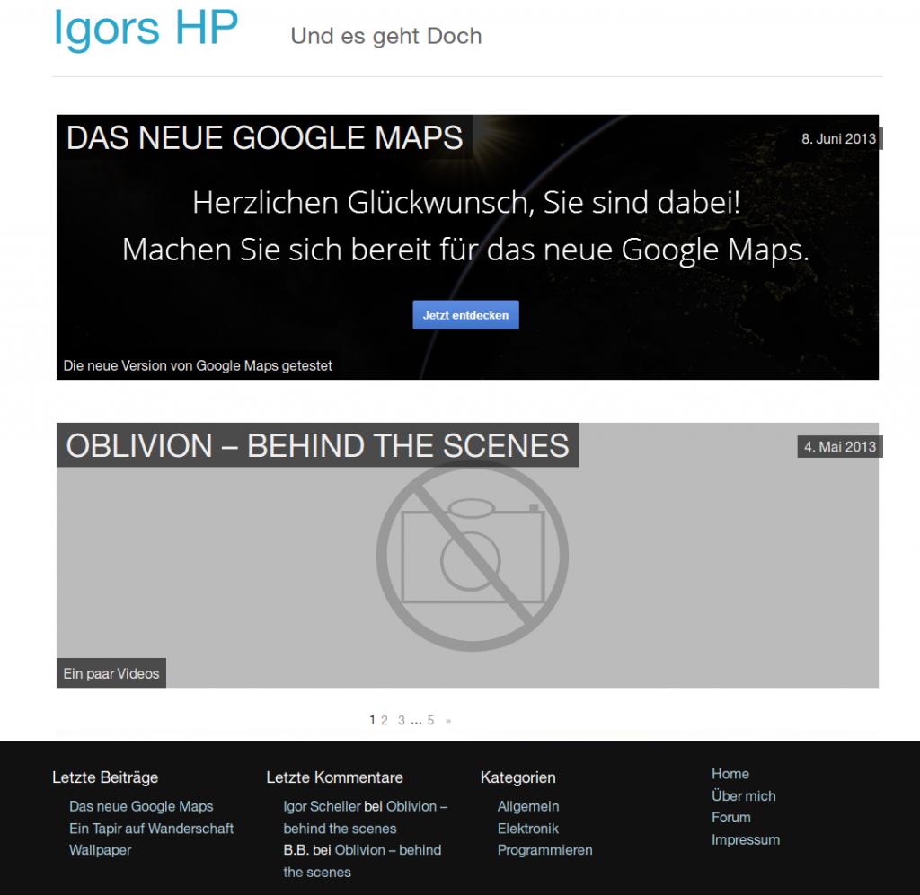 IgorsHP.de Design seit 06.2013