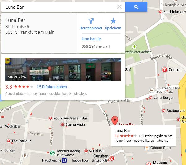 Neues GoogleMaps Suche Bar