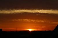 Eines von einer großen Reihe von Aufnahmen des Sonnenunterganges