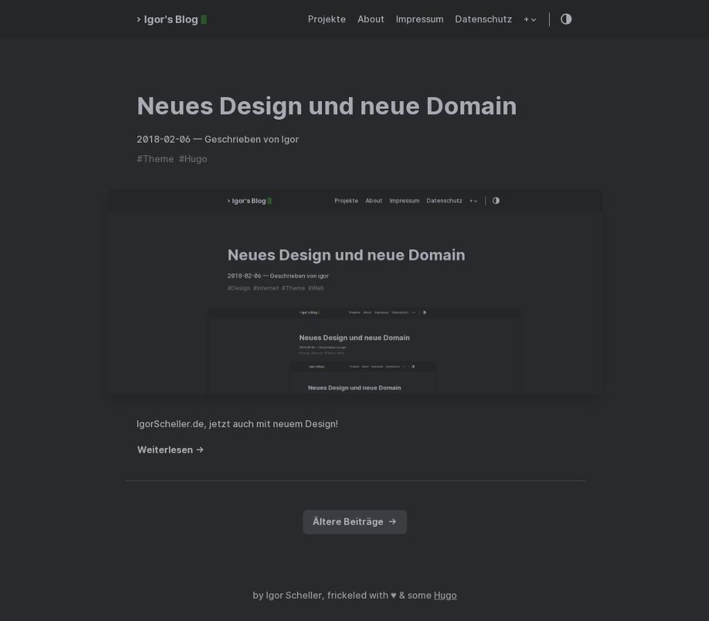IgorScheller.de Design seit 02.2019